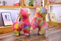 Wholesale japanese anime plush stuffed resale online - 45cm Rainbow Alpaca Plush Toy Vicugna Pacos Japanese Soft Plush Alpacasso Sheep Llama Stuffed Toy Gifts for Kids and Girls