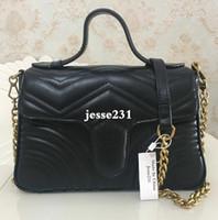 Wholesale leather handbags sales resale online - Hot Sale Top Quality Fashion Designer Women Bags Handbags Wallets Leather Chain Bag Crossbody Shoulder Bags Messenger Tote Bag Purse colors