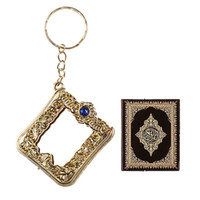 Wholesale vintage car keychains for sale - Group buy 2019 Fashion Lovely Vintage Mini Ark Islam Religious Quran Book Koran Pendant Muslim Key Holder Bag Purse Car Decor Best Gift Free DHL M461A