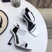 ingrosso scarpe nere di scarpe da donna-2018 nuovo arrivo sandali moda tacchi alti in pelle morbida camoscio scarpe casual sandalo nero signora tacchi all'aperto grande taglia 41 40 verde