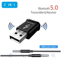 Wholesale usb bluetooth car for music resale online - MSD168 Bluetooth Adapter in1 Music Audio Receiver Transmitter mm AUX for Car TV PC Wireless Adapter