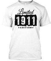 ingrosso t-shirt maniche corte-maglietta del progettista degli uomini maglietta 1911 106th Birthday Maglietta tagless popolare di 106 anni