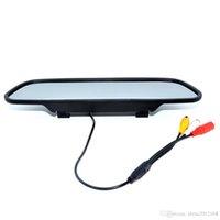 monitorización de espejo al por mayor-4,3 pulgadas de coches Aparcamiento monitor de espejo retrovisor Aparcamiento Pantalla 2 Entrada de vídeo TFT LCD en color de Asistencia de marcha atrás Car Styling