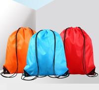 Wholesale pink travel bags resale online - large Drawstring backpack school bags waterproof Backpack folding bags Marketing Promotion drawstring shoulder bag travel shoes storage pack