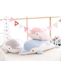 felpa de san valentín al por mayor-Dolphin Doll Cute Plush Toy For Girlfriend Valentine's Day Gift Dolphins Pillow