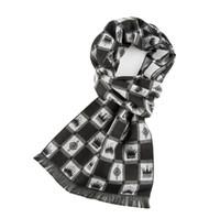 pañuelo negro corazón blanco al por mayor-Bufanda de invierno de cachemira para hombre, babero para mujer, engrosamiento de auténtica tela escocesa británica