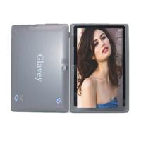 externer bildschirm q88 großhandel-A33-4G 7 Zoll Allwinner A33 Tablet 7 Q88 Touchscreen Kapazitiver Quad-Kern WIFI OTG Externer 3G 512MB / 4GB Android 4.4 Tablet-PC
