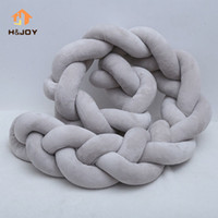 Wholesale kids neck cushion for sale - Group buy Nordic Style Kids Decoration Long Knotted Braid Pillow Decorative Pillows Sofa Cushion Home Decor Baby Bed Bumper in the Crib