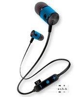 blackberry headphones mic großhandel-Neu -G20 Bluetooth Earphone4.2 TF-Karte Drahtloser Kopfhörer-Headset mit HD-Mikrofon-Metall-Sport-Stereo-Ohrhörer für alle Telefone