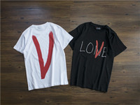Wholesale make shirts free online - 2019 fashion t shirt Vlones ins popular designs tee fashion made in Paris T shirt for men and women designers
