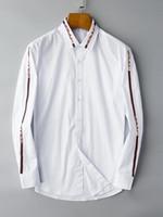 flanela listrada venda por atacado-2018 marca americana de negócios de auto-cultivo camisa xadrez, designer de moda marca de manga comprida de algodão camisa casual listrado co-dress shirt 01