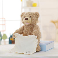 Wholesale peek boo toys resale online - New Peek a Boo Teddy Bear Play Hide And Seek Lovely Cartoon Stuffed Teddy Bear Kids Birthday Gift Cute Music Bear Plush Toy