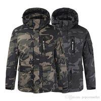 herren winterjacken kanada großhandel-Kanada Designer-Jacken der Männer beiläufige Art und Weise Winter-atmungsaktive wasserdicht Mantel-Männer Hut Abnehmbarer starke warmer Mantel
