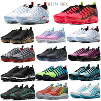 Wholesale sky teams for sale - Group buy Top USA Tn Plus Shoes Persian Violet Midnight Navy Cushion Designer Running Shoes Sneakers Olympic Cool Grey Team Geometric Sport With Box