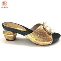 женская обувь оптовых-2018 новый золотой цвет итальянский Леди сексуальные высокие каблуки насосы свадебное платье на высоких каблуках итальянский дизайн африканских сандалии обувь для партии
