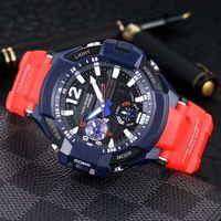 relógios mens 52mm venda por atacado-Moda GA1100 Mens Relógios de Pulso Militares 52mm Multifunções LED Digital Chocante Relógios Esporte de Quartzo Frete Grátis