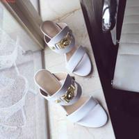 rote weiße sandale heeled großhandel-neue mode high heels sandalen schuhe Hohe qualität dame rote hausschuhe rote und schwarze und weiße nagelperlen Mit Staubbeutel
