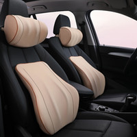 Wholesale cotton car seat covers for sale - Group buy 1PCS Car Headrest Neck Pillow For Seat Chair Memory Foam Cotton Cushion Fabric Cover Car Seat Headrest Neck Pillow