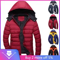Wholesale coats low prices resale online - Low Price Loss Sale Men Casual Winter Solid Warm Hooded Zipper Long Sleeve Jacket Coat Outwear Tops Drop Shipping Hot Sale