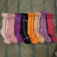 Free Shipping Girls Middle Socks Basketball Football Running Sport Long Socks Women Adult Long Sock Multicolors