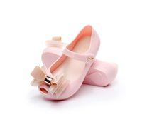 ingrosso scarpe a colore rosso per le ragazze-Toddle Little Girl Sandals Nero Rosso Rosa Color bow-knot Jelly Soft Mini Scarpe antiscivolo Bambini Toddler Beach Cute Buckle Sandals