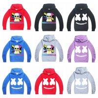maskierter hoodie großhandel-DJ Marshmello Mask Musik Hoodie Langarm Pullover Hoodies Tops Teen Kinder Sweatshirt Jacke Kapuzenmantel AAA1889