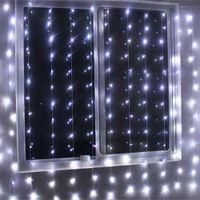 luz de la pared de cortina llevada al por mayor-NUEVO 4 M x 2 M LED Cortina de Ventana Cadena Luces de Hadas Cortina Guirnaldas Strip Party Lights Para La Boda Decoración de La Pared Fiesta de Boda Home Garden