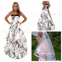 Wholesale pink tree pictures resale online - Sweetheart White Real Tree Camo Wedding Dresses Draped Skirt Satin Bridal Gowns Lace Up Back Custom Plus Size Camouflage Vestidos