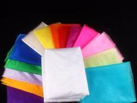 rollos de tul multi al por mayor-¡Barato! (100 m / lote) 75 cm de ancho Organza de cristal para la boda de cumpleaños Kids Party Tulle rollo de tela cortinas para postre decoración de la mesa