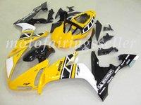 conjunto de carenagem branca yzf r1 venda por atacado-3 Brindes Novo ABS Fairing Fit Kits para a Yamaha YZF-R1 04 05 2006 YZF1000 2004 2005 2006 R1 carenagens carroçaria conjunto personalizado Yellow Black White