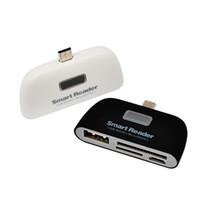 venta de tarjetas mmc al por mayor-Adaptador de tarjeta de memoria multifunción USB 2.0 Micro TF SD OTG Lector de tarjetas para teléfonos Android Tabletas de tarjetas Lectores