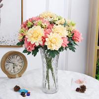 lindas flores de toque real venda por atacado-Real toque bonito calêndula flor flores de seda flores artificiais salão de casamento home decor hotel arranjo de flores decoração