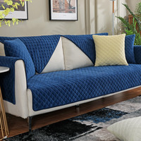 Wholesale slip covered sofas for sale - Group buy Soft Comfortable Sofa Slip Cover Solid Color Sofa Cover Couch Cover Winter Thicken Non Slip Sofa Slipcover Modern Home Decoration DBC VT0932