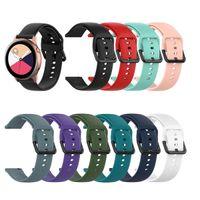 ingrosso attrezzo attivo-Cinturino in silicone da 20 mm per Samsung Galaxy Watch Active R500 42mm Gear S2 Sport Cinturino in cinturino di ricambio Huami Amazfit BIP Ticwatch 2