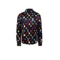 mens çiçek elbisesi gömlekleri toptan satış-Tasarımcı Slim Fit Gömlek Medusa Erkekler ss = 2019 3D Altın Çiçek Baskı Erkek Gömlekler Uzun Kollu Iş Rahat Gömlek Erkeklerde giysi