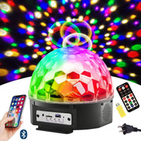 Wholesale crystal magic ball remote for sale - Group buy 9 Color LED Bluetooth Stage Lights DJ Stage Lighting Rotating Crystal Magic Ball Light Sound Activated Light with Remote Control
