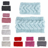 Wholesale hat band baby for sale - Group buy parent child Knitted Crochet Headband Family Mom baby Winter Sports Headwrap wool Hairband Turban Head Band Warmer Beanie Cap LJJA2929