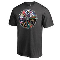 camiseta amarela xxl venda por atacado-2018 Stanley Cup Playoffs Bound Behind The Net T-Shirt Preto Marinha Vermelho Amarelo dos homens de Hóquei No Gelo Jerseys Frete Grátis Atacado Barato
