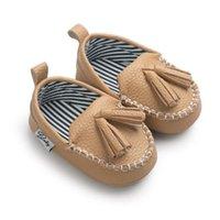 кулон для девочки оптовых-First Walkers Новорожденная детская обувь Обувь для малышей Prewalker Baby Boy Girl Pu Кисточка кожаная обувь