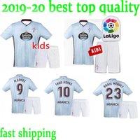 tamaño niños fútbol al por mayor-Tamaño: XXS-XXL niños 19 20 Celta Vigo camisetas de fútbol azul 2019 2020 camisetas # 10 IAGO ASPAS # 11 camiseta de fútbol SIATO Tailandia