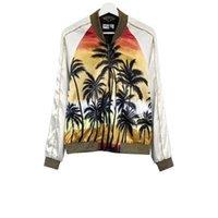 casacos justin bieber venda por atacado-Moda Justin Bieber Jaqueta Homens Mulheres Moda Havaí Skate Coqueiro jaqueta de beisebol Hip Hop Outerwear MA1 Casaco Slp