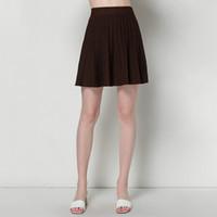 6074fea0f8 Pop2019 Spring Xia Xinkuan Solid Color High Waist Umbrella Suit-dress Short  Fund Knitting Half-body Skirt Woman