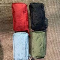 carteira designer organizador venda por atacado-Sup 19ss Marca Mulheres Designer de Cosméticos Saco Supre Cartas Sacos de Maquiagem Bolsas de Embreagem Carteiras de Viagem de Luxo Organizador Saco de Higiene Pessoal B7201