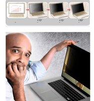 monitor de filtro de privacidad al por mayor-Genuino Anti Privacy Filter Screen Protector Computer Office Laptop Computer Monitor 13.1 13.3 14.1 14 15 15.3 pulgadas Sin pegamento Material PET