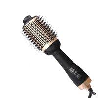 secador de pelo de onda al por mayor-Profesional CHJ secador de aire caliente cepillo de pelo 4 en 1 Tenaza eléctrico giratorio Wave bigudíes rodillos Hair Styling ToolsMX190925