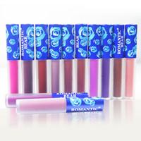 blue matte lipstick großhandel-12 Farben Samt Lipgloss ROMANTIC BEAR Mist matt Antihaft-Tasse Langlebige Liquid Lipstick Blue Tube