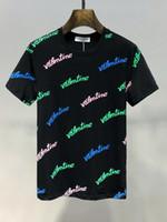 neue stil hemden qualität großhandel-19ss Neu Herren Designer T Shirts O Kragen Damen Kurzarm 8346 Paris Italien Markenkleidung Hip Hop Style Druck hochwertiger 100% Baumwolle