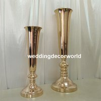 Wholesale led table large resale online - Tall and large Metal Gold Crystal Candle Holder Wedding Candelabra Table Centerpiece Event Road Lead Candle Stand decor452