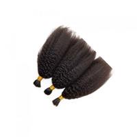 accesorio para el cabello humano al por mayor-30inch brasileño recto rizado del cabello humano para trenzar aparente No hay granel de fijación 100 del trenzado del pelo humano