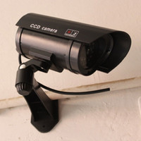 Wholesale guard cameras for sale - Group buy Monitor Security Guard Simulation Surveillance Camera Outdoor Indoor Dummy IR Camera Built In LED Flashing Light High Quality
